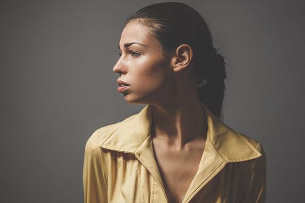 A girl facing signs of hearing loss